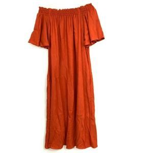 H&M Off The Shoulder Short Sleeve Midi Dress XS